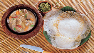 Appam and Chicken Stew