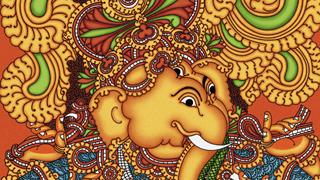 Lord Ganesha Mural Painting