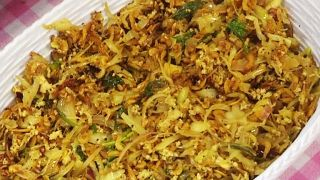 Dry Prawns & Cabbage Thoran
