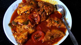 Fish cooked in Tomato