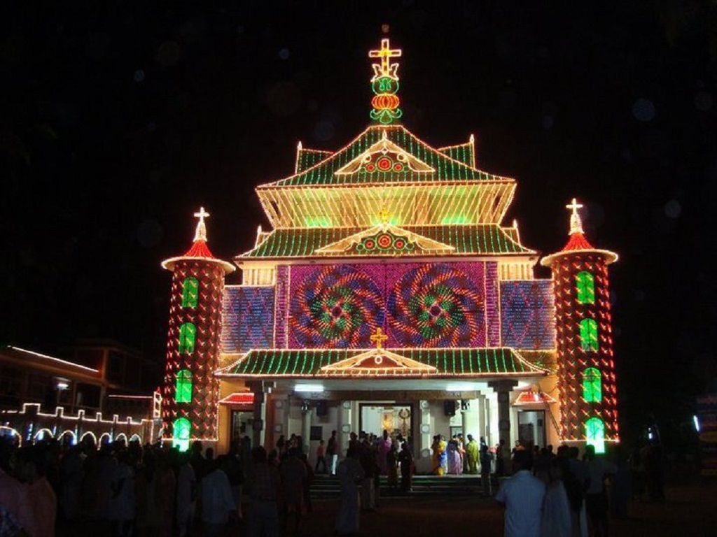 Illuminated Mapranam Church