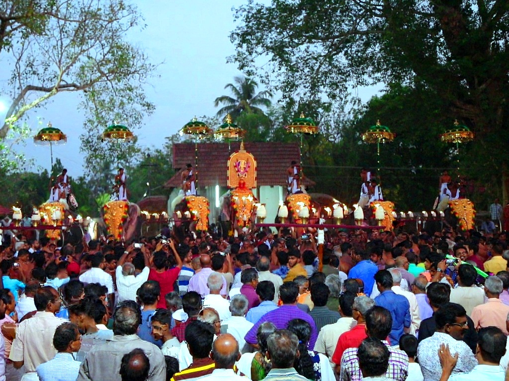 Elephant Procession and Melam