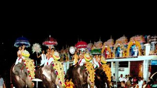 Elephant Procession at Sree Raghavapuram Temple, Kannur