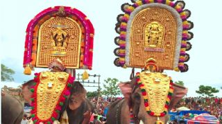 Elephant procession of Ucharan Vela