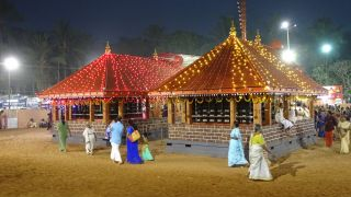 A festival night of Sree Kurumba Bhagavathy Temple, Muzhappilangadu