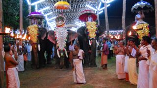Elephant Procession at Cherukunnu Sree Annapoorneshwari Temple
