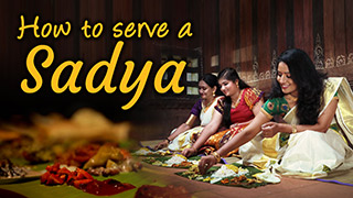 How to serve a Sadya
